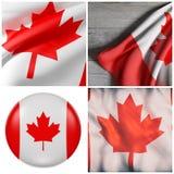 Ondulação da bandeira de Canadá Imagem de Stock