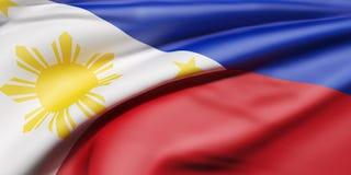 Ondulação da bandeira de Republic of the Philippines Fotos de Stock Royalty Free