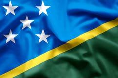 Ondulação das ilhas de Salomon e ilustração coloridas da bandeira do close up ilustração do vetor
