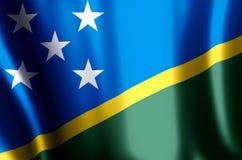 Ondulação das ilhas de Salomon e ilustração coloridas da bandeira do close up ilustração royalty free