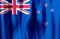 Ondulação de Nova Zelândia e ilustração coloridas da bandeira do close up ilustração royalty free