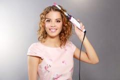 Ondulação do cabelo Fotografia de Stock Royalty Free