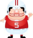 Ondulação do jogador de futebol dos desenhos animados Fotografia de Stock Royalty Free