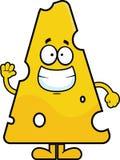 Ondulação do queijo suíço dos desenhos animados Imagens de Stock Royalty Free