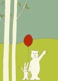 Ondulação do urso e do coelho ilustração royalty free