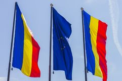 Ondulação europeia das bandeiras imagem de stock royalty free