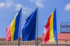 Ondulação europeia das bandeiras foto de stock royalty free