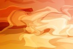 A ondulação líquida, linhas curva o backg abstrato da textura do conceito do por do sol ilustração stock