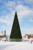 ONDULACIÓN PERMANENTE, Rusia, febrero, 06 2016: Ciudad helada del ` s del Año Nuevo Fotografía de archivo