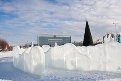 ONDULACIÓN PERMANENTE, Rusia, febrero, 06 2016: esculturas de hielo hermosas en Fotografía de archivo libre de regalías