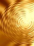 Ondulaciones del oro en agua Fotos de archivo