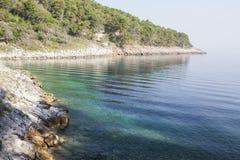 Ondulaciones en superficie del mar Foto de archivo libre de regalías