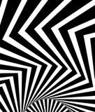 Ondulado, agitando - líneas de la parte radial del zigzag Backgrou monocromático abstracto ilustración del vector