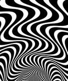 Ondulado, agitando - líneas de la parte radial del zigzag Backgrou monocromático abstracto libre illustration
