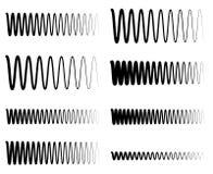 Ondulado, líneas del equalizador del zigzag EQ Amplitud, soundwave, frecuencia stock de ilustración