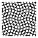 Ondulado, zigzag, criss cruce el modelo de rejilla ilustración del vector