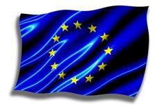 Ondulation brillante d'indicateur d'Union européenne Images libres de droits