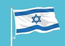 Ondulation d'Israel Flag illustration de vecteur