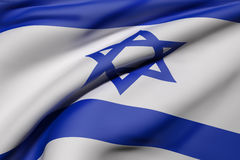 Ondulation d'Israel Flag Photo libre de droits