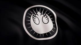 Ondulation dans le drapeau de vent avec le symbole du Star Wars L'animation du drapeau du symbole de Star Wars Les Guerres des Ét illustration libre de droits