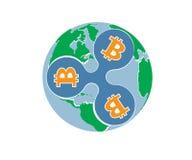 Ondulation de bitcoin de XRP-BTC illustration de vecteur