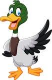 Ondulation de canard de canard de bande dessinée d'isolement sur le fond blanc illustration libre de droits