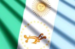 Ondulation de Chaco et illustration colorées de drapeau de plan rapproché illustration libre de droits