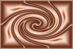 Ondulation de chocolat Images stock