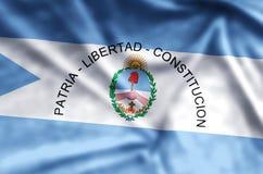 Ondulation de Corrientes et illustration colorées de drapeau de plan rapproché illustration de vecteur