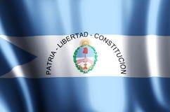 Ondulation de Corrientes et illustration colorées de drapeau de plan rapproché illustration libre de droits