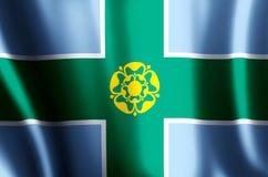 Ondulation de Derbyshire et illustration colorées de drapeau de plan rapproché illustration stock