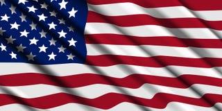 Ondulation de drapeau américain Fond de vecteur illustration libre de droits