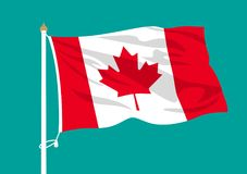 Ondulation de drapeau de Canada illustration de vecteur
