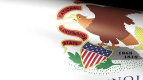 Ondulation de drapeau d'état de l'Illinois illustration de vecteur