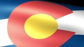 Ondulation de drapeau d'état du Colorado illustration libre de droits