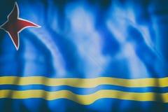 Ondulation de drapeau d'Aruba illustration libre de droits