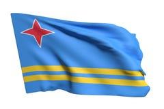 Ondulation de drapeau d'Aruba illustration de vecteur