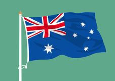 Ondulation de drapeau d'Australie illustration libre de droits