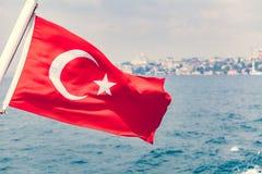 Ondulation de drapeau de la Turquie Photographie stock libre de droits