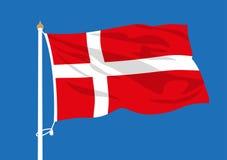 Ondulation de drapeau du Danemark illustration de vecteur