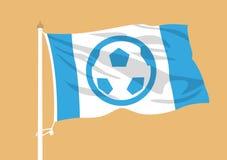 Ondulation de drapeau du football illustration libre de droits