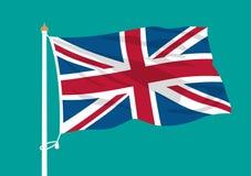 Ondulation de drapeau du Royaume-Uni illustration stock