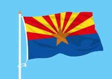 Ondulation de drapeau de l'Arizona illustration stock