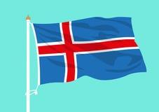 Ondulation de drapeau de l'Islande illustration libre de droits