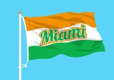 Ondulation de drapeau de Miami illustration de vecteur