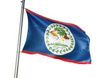 Ondulation de drapeau national de Belize d'isolement sur l'illustration 3d réaliste de fond blanc illustration stock