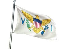 Ondulation de drapeau national des Îles Vierges USA d'isolement sur l'illustration 3d réaliste de fond blanc illustration de vecteur