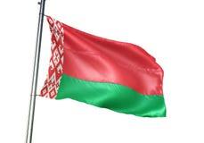 Ondulation de drapeau national du Belarus d'isolement sur l'illustration 3d réaliste de fond blanc illustration libre de droits