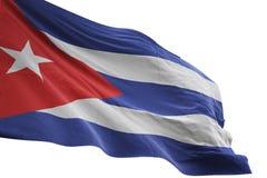 Ondulation de drapeau national du Cuba d'isolement sur l'illustration blanche du fond 3d illustration libre de droits