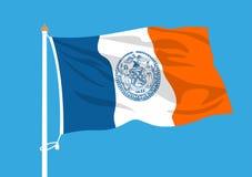 Ondulation de drapeau de New York illustration libre de droits